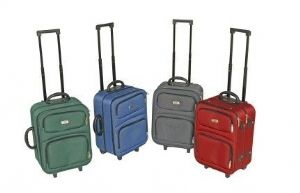 "Trolley Bag  This Drakes Pride bag features ""double wheels"